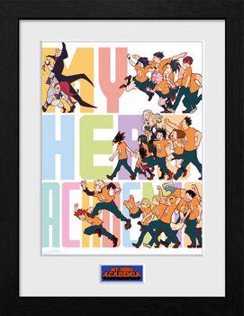 Framed poster My Hero Academia - Season 4 Key Art 3