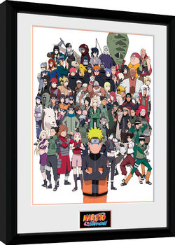 Naruto Shippuden - Group Framed poster
