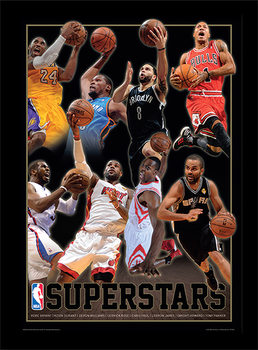 Framed poster NBA - Superstars
