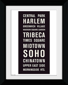 New York - Locations Framed poster