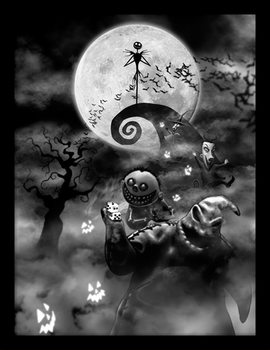 Nightmare Before Christmas - Oogie Boogie Trouble Framed poster