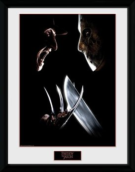 Framed poster Nightmare On Elm Street - Face Off