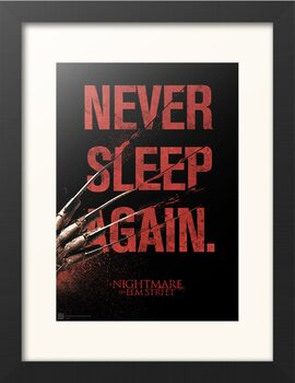 Framed poster Nightmare On Elm Street - Never Sleep Again