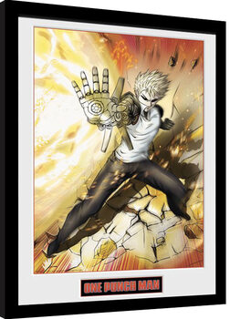 Framed poster One Punch Man - Genos