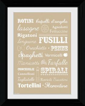 Pasta - Types Framed poster
