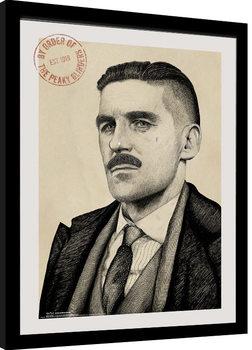 Peaky Blinders - Arthur Portrait Framed poster