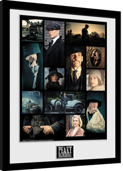 Peaky Blinders - Grid Framed poster