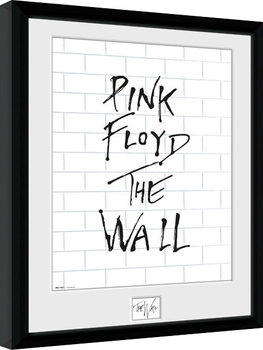 Pink Floid: The Wall - White Wall Framed poster