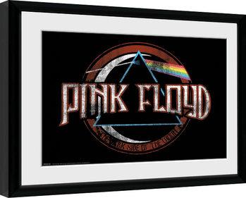 Pink Floyd - Dark Side Circle Framed poster