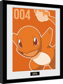 Pokemon - Charmander Mono Framed poster