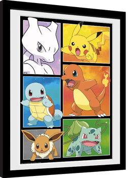 Framed poster Pokemon - Comic Panels