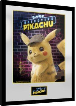 Framed poster Pokemon: Detective Pikachu - Pikachu