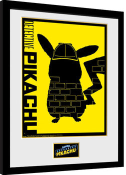 Framed poster Pokemon: Detective Pikachu - Wall