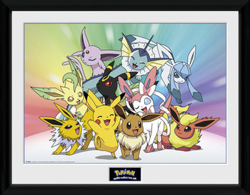 Framed poster Pokemon - Eevee