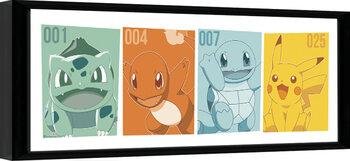 Framed poster Pokemon - Kanto Partners