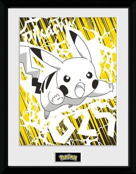 Framed poster Pokemon - Pikachu Bolt 25