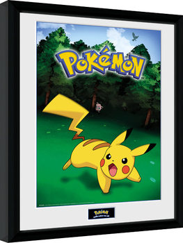 Pokemon - Pikachu Catch Framed poster