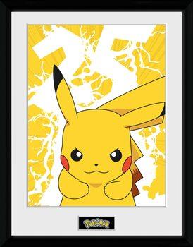 Framed poster Pokemon - Pikachu Lightning 25