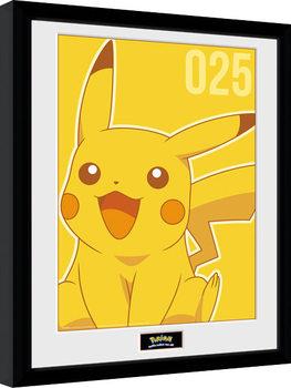 Pokemon - Pikachu Mono Framed poster
