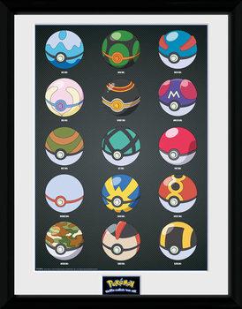 Pokemon - Pokeballs plastic frame