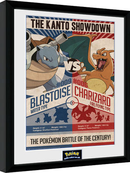 Framed poster Pokemon - Red V Blue