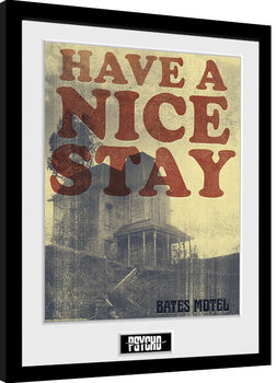 Psycho - Have a Nice Stay Framed poster