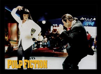 Framed poster PULP FICTION - dance