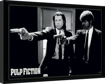 Framed poster PULP FICTION - guns