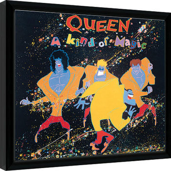 Framed poster Queen - A Kind Of Magic