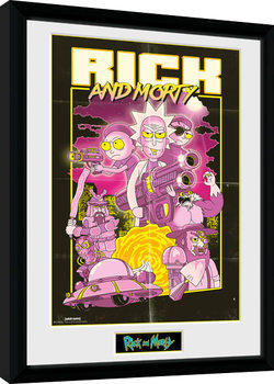Rick and Morty - Action Movie Framed poster