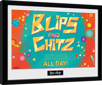Rick and Morty - Blitz and Chitz Framed poster