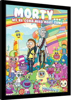 Rick and Morty – Cuteness Overload Framed poster