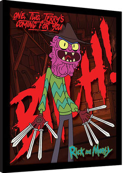 Rick and Morty - Scary Terry Framed poster