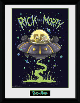 Rick and Morty - Ship Framed poster