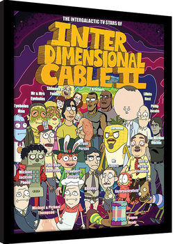 Rick and Morty - Stars of Interdimensional Cable Framed poster