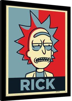 Framed poster Rick & Morty - Rick Campaign