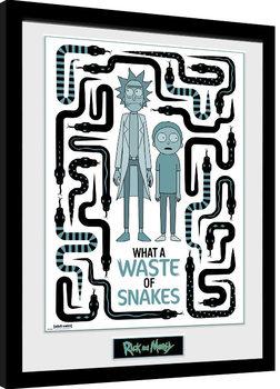 Rick & Morty - Waste of Snakes Framed poster