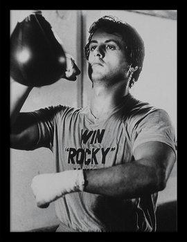 ROCKY - win rocky win Framed poster
