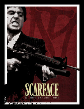 Scarface - Blood Red Framed poster