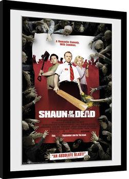 Framed poster Shaun Of The Dead - Key Art