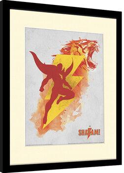 Framed poster Shazam - Shazam's Might