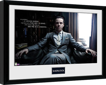 Sherlock - Moriarty Chair Framed poster
