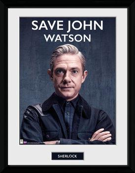 Sherlock - Save John Watson Framed poster