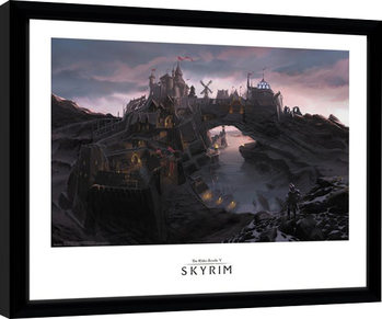 Skyrim - Solitude Framed poster