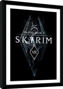 Skyrim - VR Game Cover Framed poster