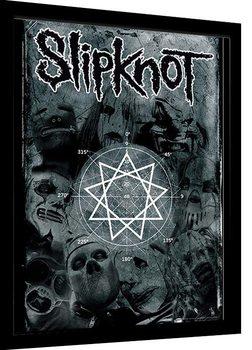 Slipknot - Pentagram Framed poster