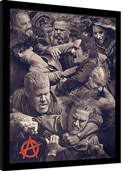 Framed poster Sons of Anarchy - Fight