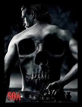 Framed poster Sons of Anarchy - Jax Back