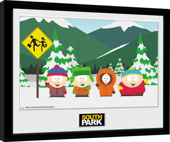 South Park - Group Framed poster