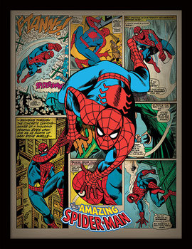 Spider-Man - Retro Framed poster